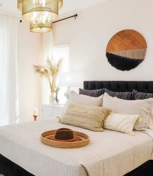 Art & Wall Decor by Vita Boheme Studio seen at Private Residence - Callisto-Hand Dyed Round Fiber Canvas