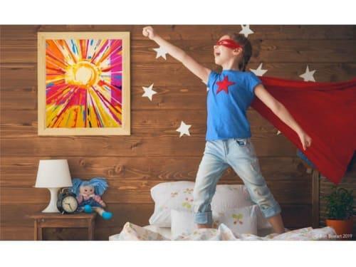 Paintings by Ben Bonart seen at Ben Bonart Art & Design LLC, Nyack - Hello Sunshine