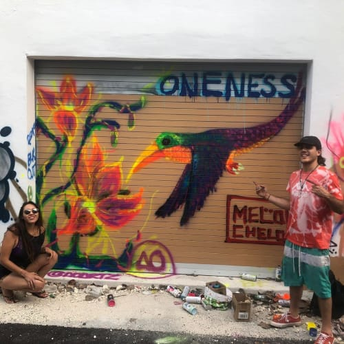 Street Murals by Marcelo Boggio seen at Wynwood, Miami - Oneness