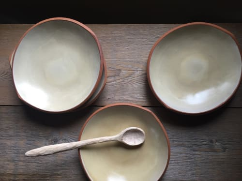 Ceramic Plates by Paula West Pottery LLC seen at Private Residence, Al Rideem - Pasta Bowls