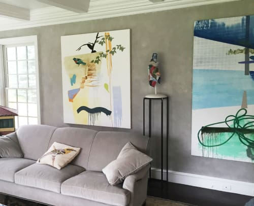 Sculptures by Cynthia Lahti Fine Art seen at Private Residence, East Moriches - December, mixed materials sculpture