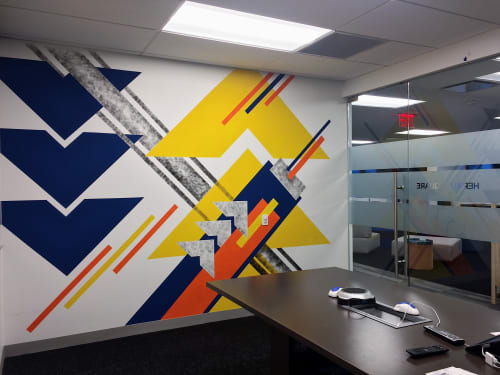 Murals by LAMKAT seen at Behalf Inc., New York - Herald Square