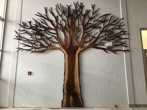 Sculptures by Christian Toth Art seen at Guysborough Option-Adaptive, Guysborough - Donar Tree