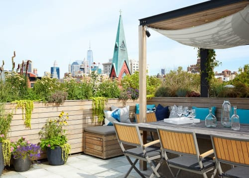 Interior Design by Laurie Blumenfeld Design seen at Private Residence, Brooklyn - Brooklyn Heights Roof Deck Project