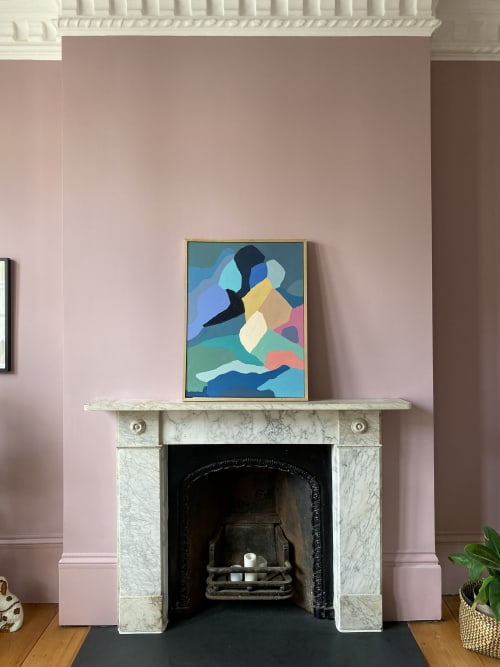 Paintings by Borneo Studio - Andrea Mongenie seen at Private Residence, London - Breath 60x80cm
