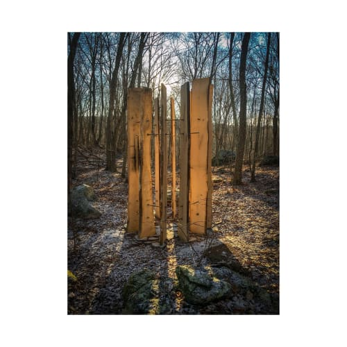 Public Sculptures by John Kenneth Melvin seen at I-Park Foundation, Inc., East Haddam - Old Growth Memorial