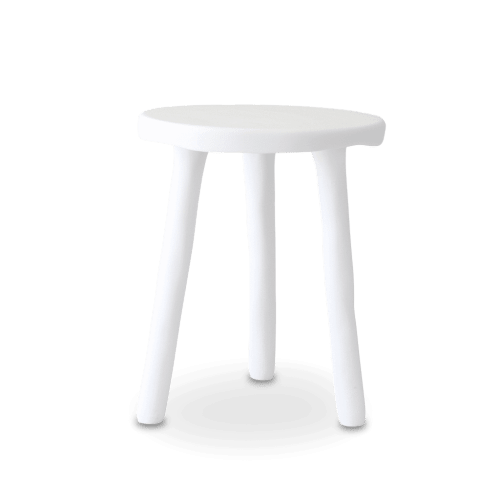 White Resin Side Table | Tables by Tina Frey