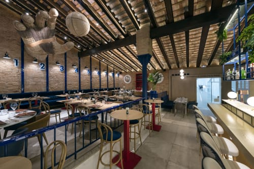 Interior Design by Mercader de indias seen at Carrer de Pelai, 6, València - Pelayo Gastro trinquet