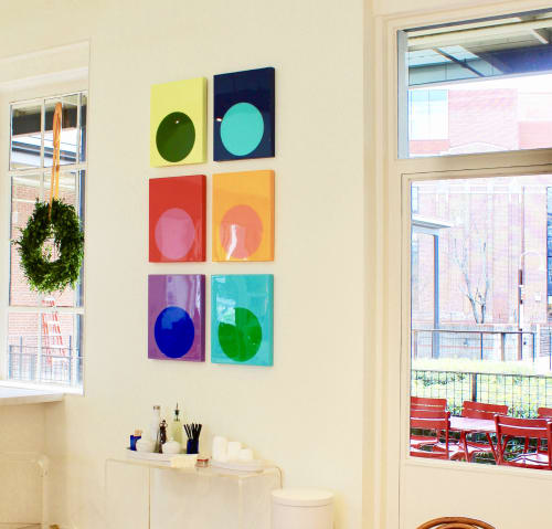Paintings by Stephanie Henderson Paintings at Westside Provisions District, Atlanta - Ultra Glossy Dots @ Mashburn