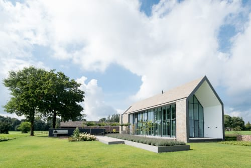 Interior Design by B-TOO interieurarchitecten seen at Private Residence - Glass Greenhouse in the Fields