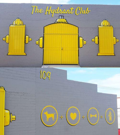 Murals by Jerry Misko seen at The Hydrant Club, Las Vegas - Th Hydrant Club Mural