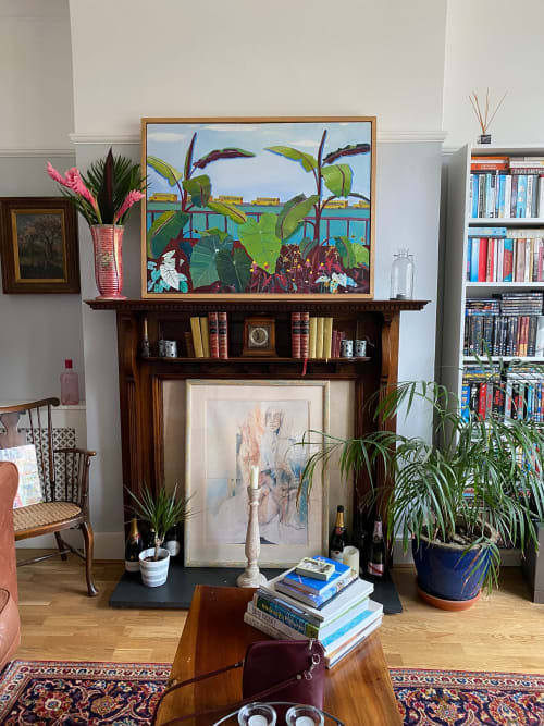 Murals by Rachel Campbell Painting seen at Private Residence, London - Banana Trees and School Buses