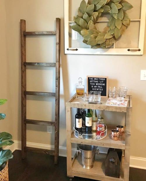 Furniture by Walker & Wood seen at Private Residence, Nashville - Blanket Ladder