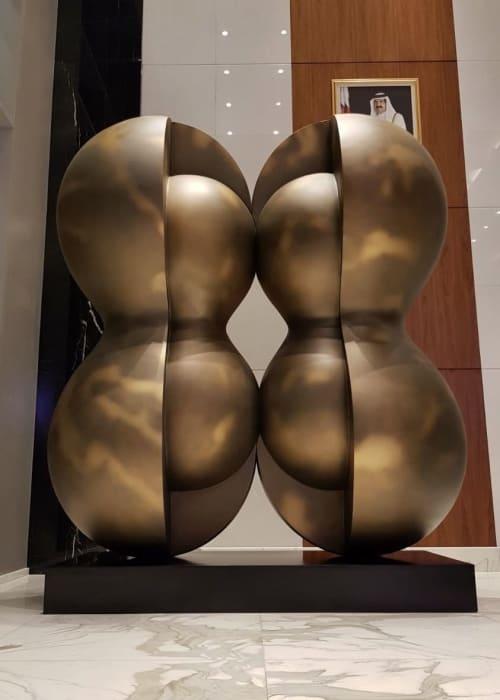Public Sculptures by Ken Kelleher Sculpture seen at Al Khaliji Bank, Doha - Papillon