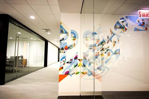 Paintings by Justus Roe seen at Callahan Capital Properties, Chicago - Callahan Capital Properties Artwork