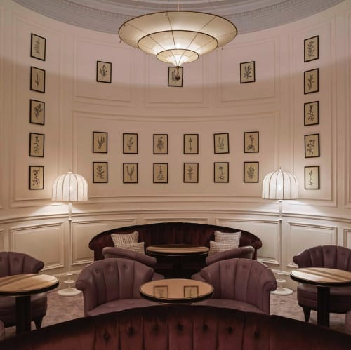 Paintings by Lucy Augé seen at The Gleneagles Hotel, Auchterarder - Paintings