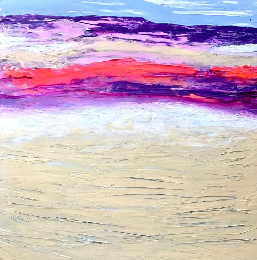 Paintings by Julea Boswell Art Studio seen at Private Residence, Ottawa - Cooler Along the Coast