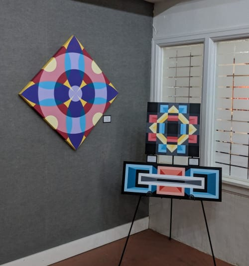 Paintings by Jason Wilson seen at Paseo Arts District, Oklahoma City - Protrusion