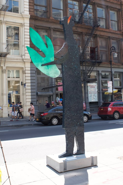 Public Sculptures by Zigi Ben-Haim seen at SoHo, New York - Treasure the Green
