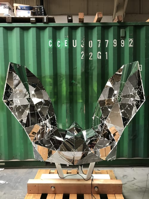 Public Sculptures by Chromaforms seen at Private Residence, Pine Lake - Cosmic Voyager