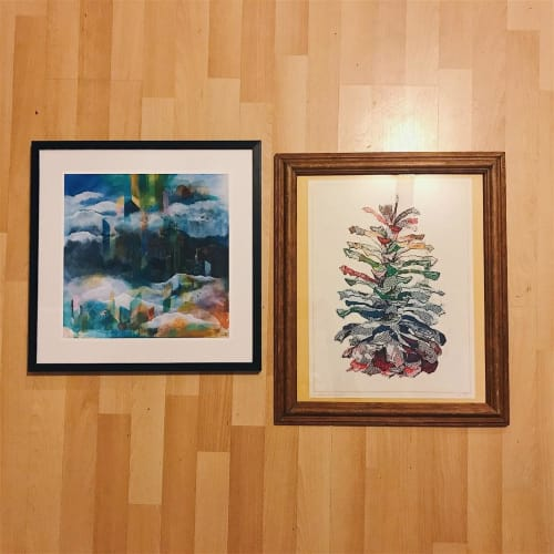 Paintings by Lan Yao seen at Private Residence, Squamish - Paintings