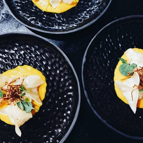 Ceramic Plates by Ceramicsbytiz seen at Private Residence, London - Tableware for London pop-up supper club Edit_Pop_Up