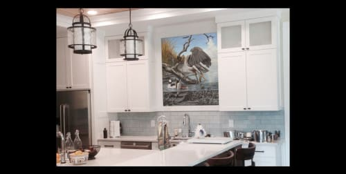 Murals by Michael Rosato seen at Private Residence, Williamsburg - Heron