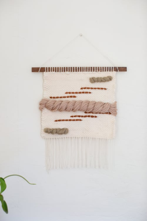 Wall Hangings by Keyaiira | leather + fiber seen at Private Residence, Santa Rosa - Reflect