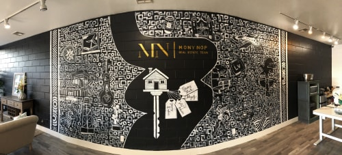Murals by Trent Thompson seen at Mony Nop Real Estate | Compass, Livermore - Mony Nop Real Estate Mural