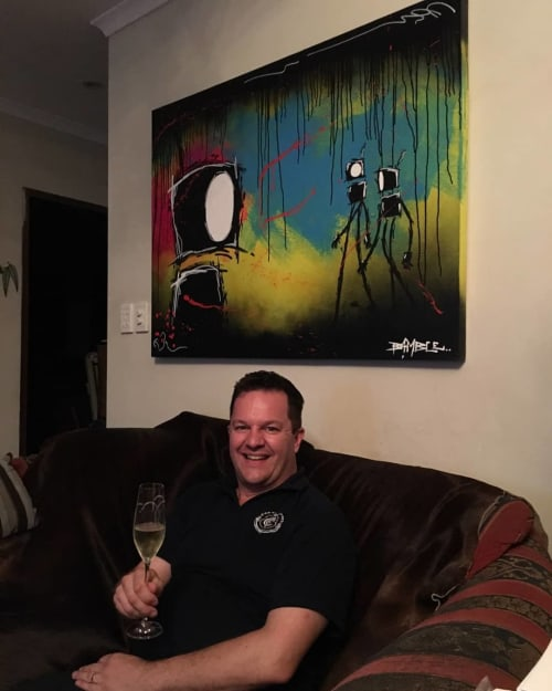 Paintings by Jimmy Bamble seen at Private Residence, Darwin - 'Gaijin'