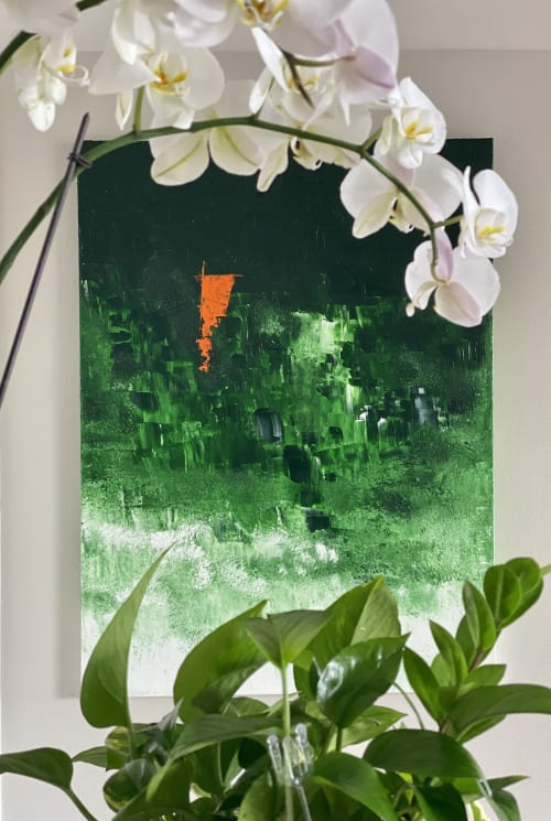 Paintings by Hugo Auler Jr. Art seen at Private Residence, Los Angeles - Rainforest crying for help