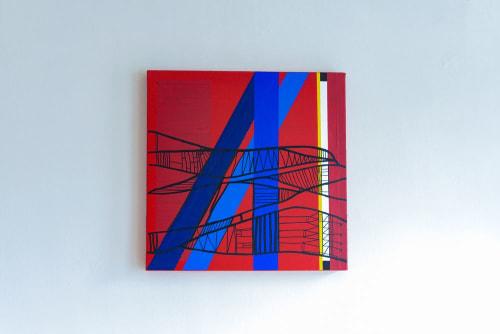 Paintings by Atelier Stumpo seen at Ritual Roasters, San Francisco - Sunbathe Red II