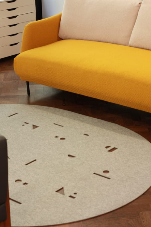 Rugs by Selina Rose seen at Clerkenwell, London - CONFETTI rug