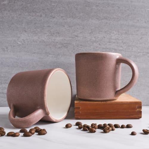 Cups by Brian Earwood seen at Memphis, TN, Memphis - Dusty pink ceramic mug