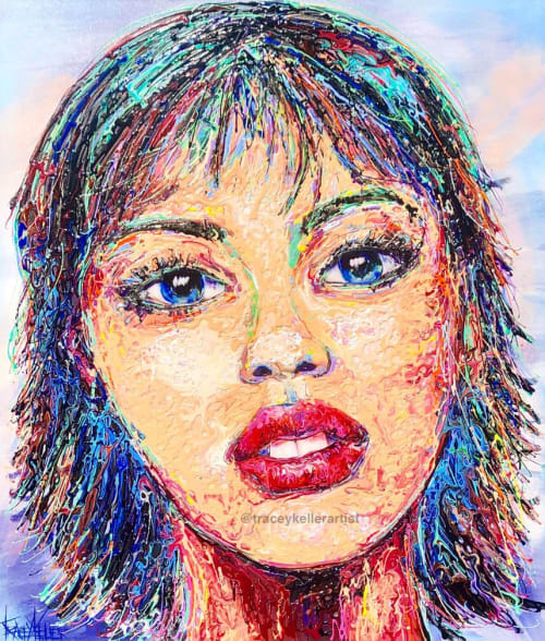 Paintings by Tracey Keller seen at Tracey Keller Gallery, Noosa Heads - That Face Painting
