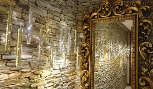 Chandeliers by ILANEL DESIGN STUDIO seen at Private Residence, Sandton - Rain Light Drops