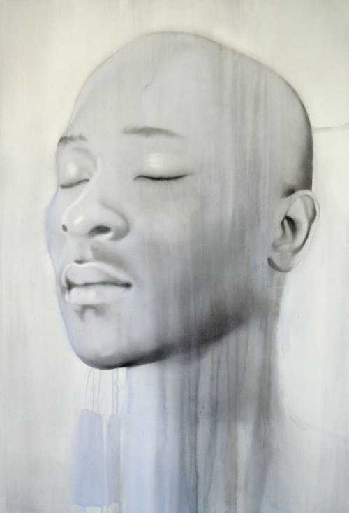 Paintings by Tracy Payne seen at Private Residence, Cape Town - 'Portrait of Water'