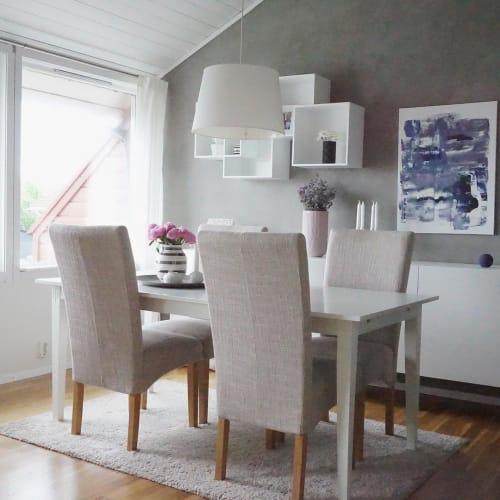 Paintings by Margaret Alice Høiesen seen at Private Residence, Stavanger - Anita's blue SOLD