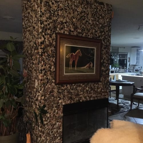 Fireplaces by Aries Earth Pottery seen at Private Residence, Caroline - Fireplace