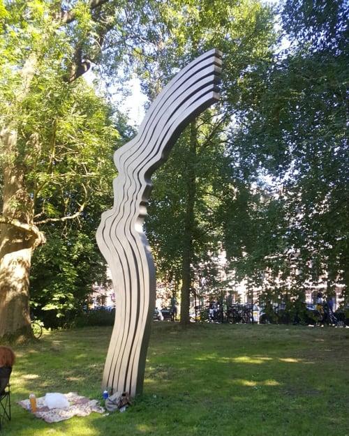 Public Sculptures by Jeroen Henneman seen at Amsterdam, Amsterdam - De Schreeuw (The scream)