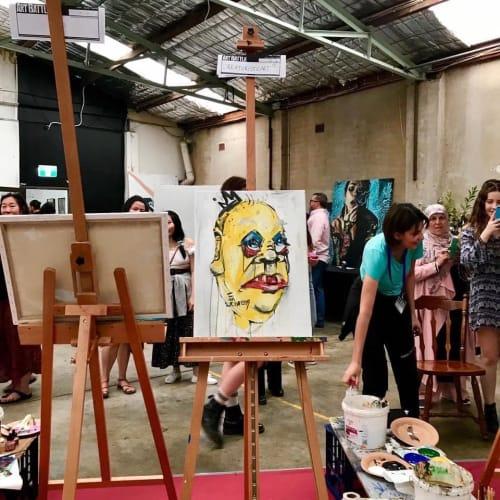 Public Art by Creaturisticart seen at Creator's Studio, Marrickville - CREATUR at Sydney Art Battle