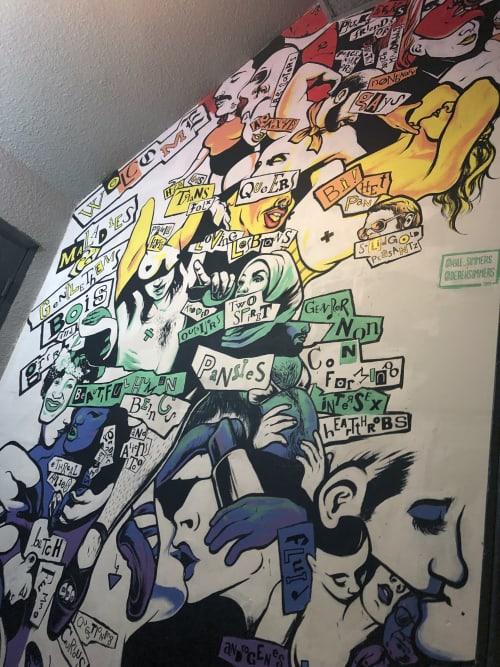 Murals by Kyle Simmers seen at Dickens, Calgary - Derek Simmers