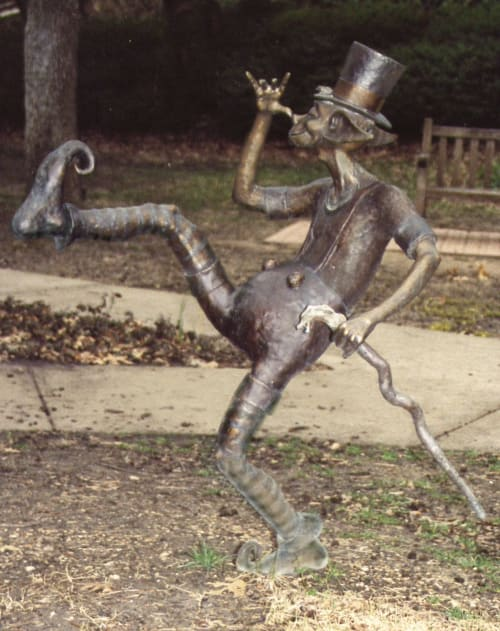 Public Sculptures by Deran Wright seen at Highland Park, Highland Park - Frolicking Pixies - Not for Sale
