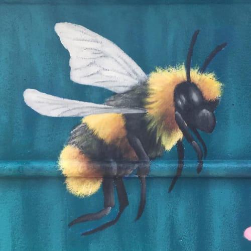 Murals by Carl Linstrum seen at Four Seasons Hotel Atlanta, Atlanta - Flower Mural