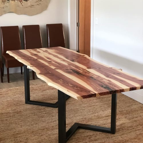Tables by PC Stone And Wood Design seen at Private Residence, Summit Park - Juniper Table