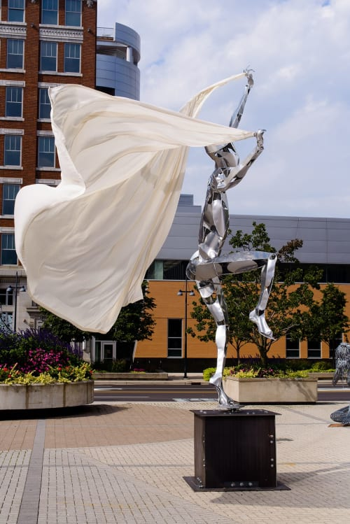 Sculptures by Jack Howard-Potter seen at Suwanee, Suwanee - Dancer XX