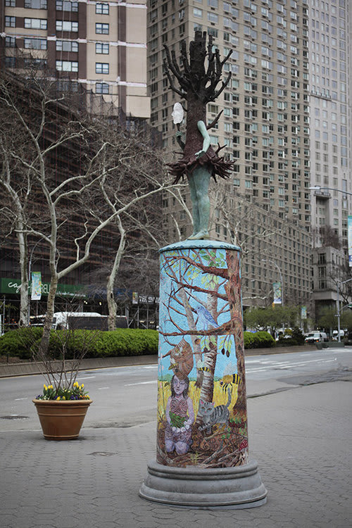 Public Sculptures by Kathy Ruttenberg seen at Dante Park, New York - All The World's A Stage