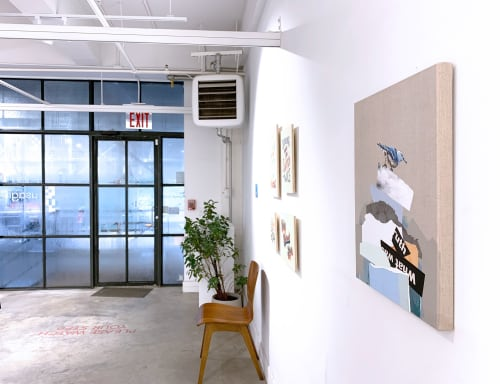 Paintings by Lauren Matsumoto seen at Private Residence, Brooklyn - The Rise and Fall No. 2