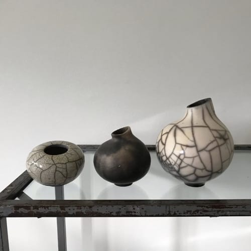 Vases & Vessels by Annika Semler Ceramics seen at Private Residence, Copenhagen - Raku