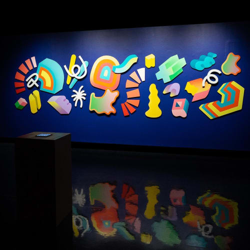 Sculptures by Andy Arkley seen at wndr museum, Chicago - TRY TO GET HIGHER